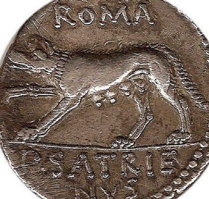 Denario romano.