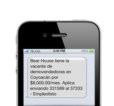 Ejemplo de SMS 2