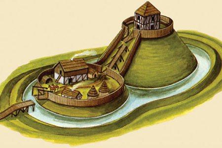 Castillo de mota. Imagen: Wikipedia.