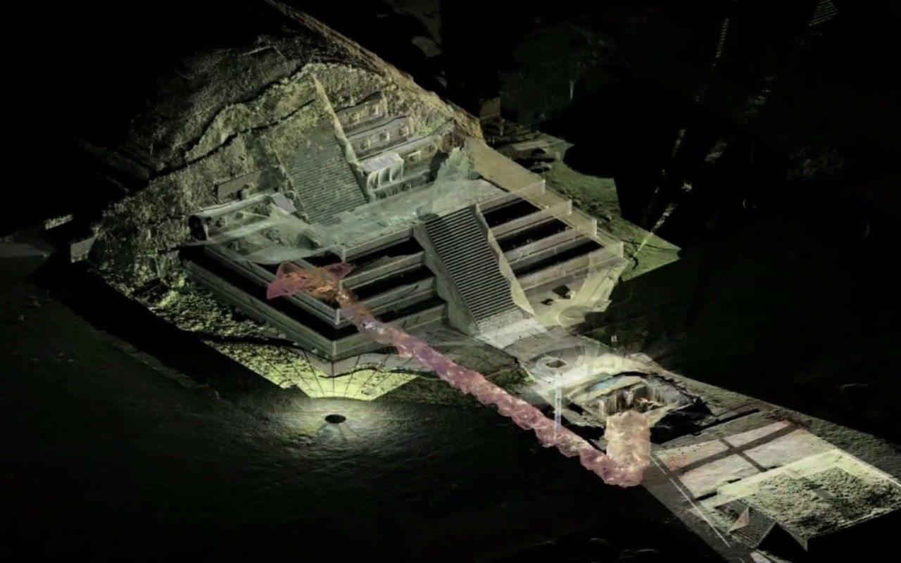INAH descubre camino al 'inframundo' bajo Teotihuacán