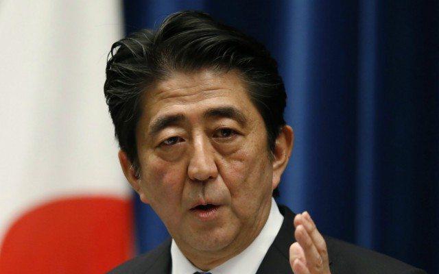 Primer ministro de Japón, Shinzo Abe, en una conferencia de prensa (Reuters).