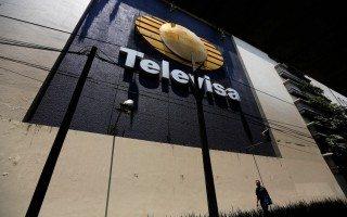 Logo de Televisa en sus instalaciones (Reuters).