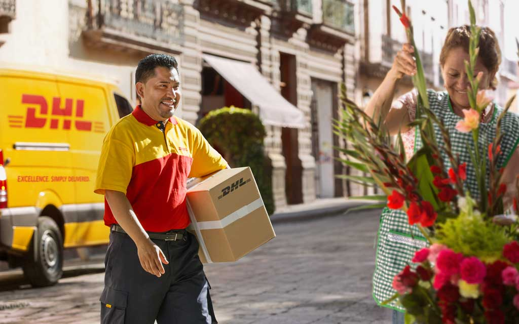 DHL correo courier
