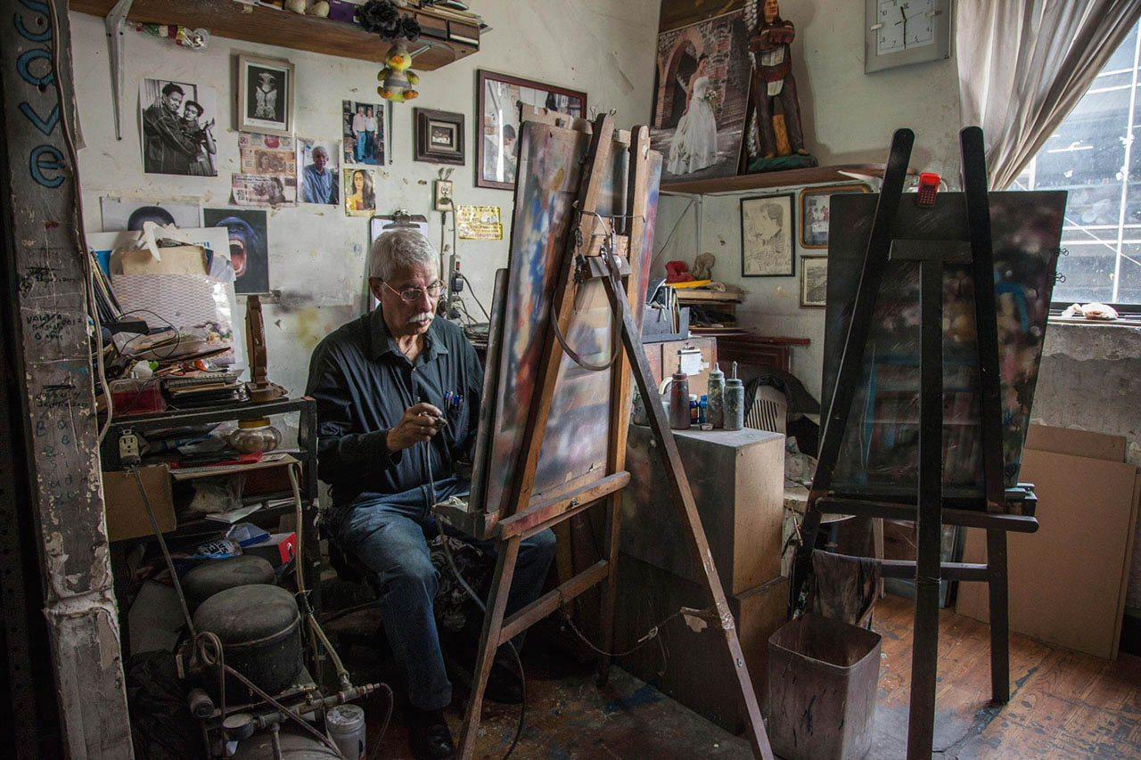 Casitas, el último artista del aerógrafo