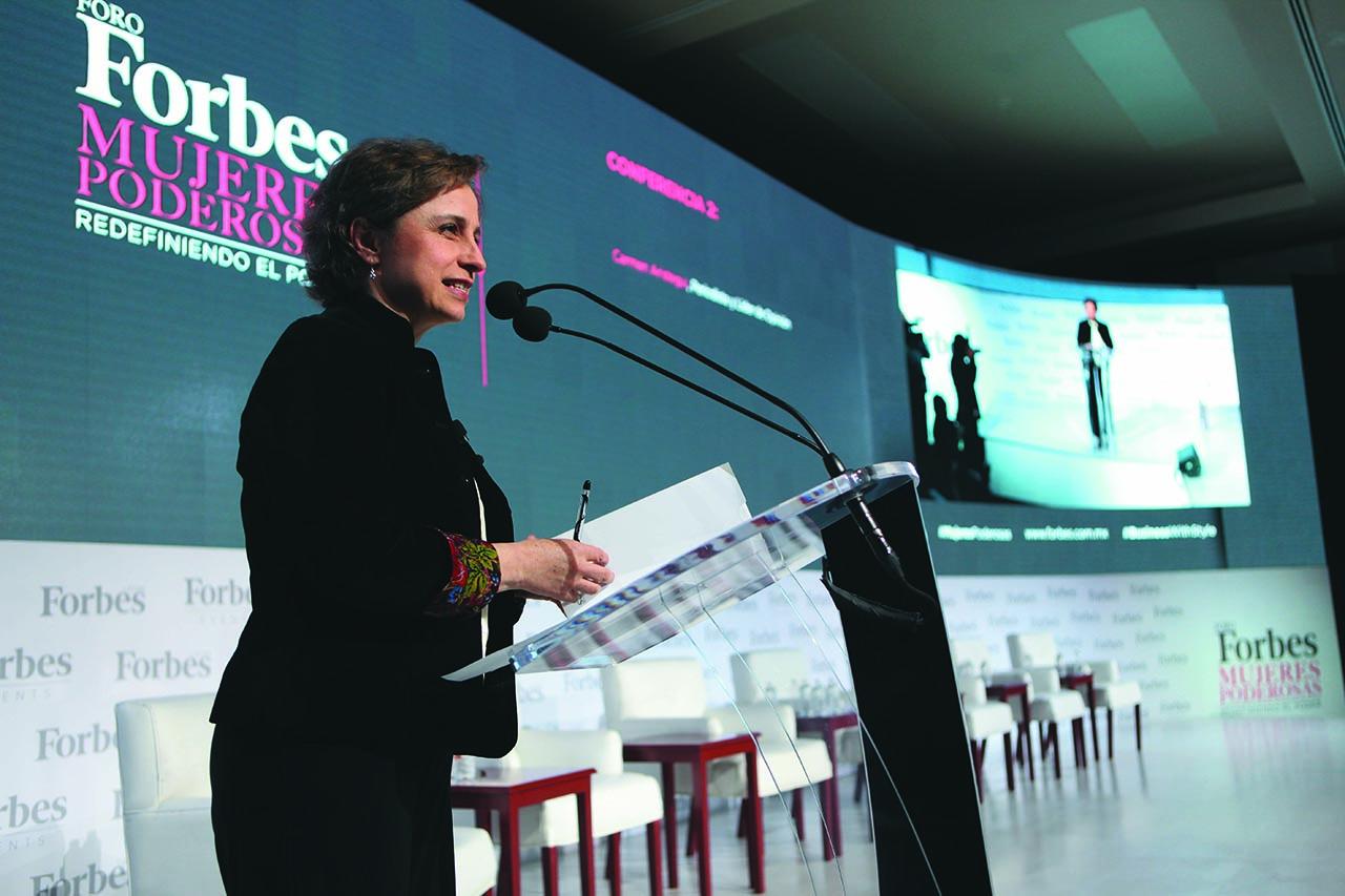 Foro Forbes Mujeres Poderosas. Conferencia 2: Carmen Aristegui