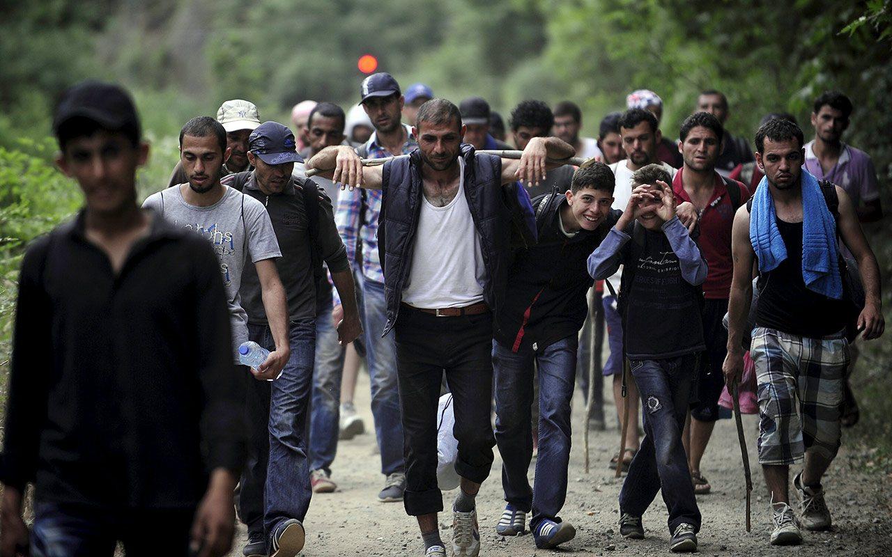 Así es la vida de los migrantes en la caravana