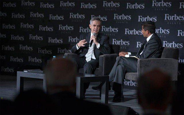 Miguel Ángel Mancera durante el Foro Forbes 2015 (Foto: Gretta Hernández).