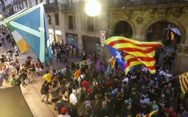 Vicepresidenta española asume mando de Cataluña