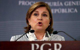 La titular de la PGR, Arely Gómez, da un mensaje a medios el 16 de septiembre pasado (Reuters).
