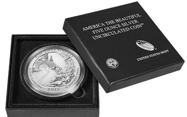 Moneda de plata de EU. Foto: US Mint.