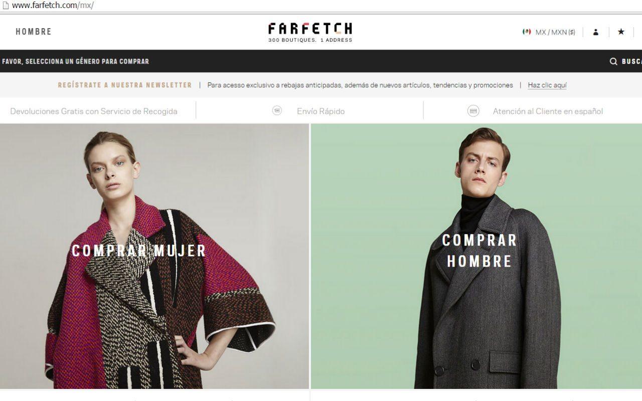 Farfetch, una web para comprar en línea al rededor del mundo
