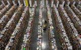Aspecto de un centro de cumplimiento de Amazon. (Foto: Reuters.)