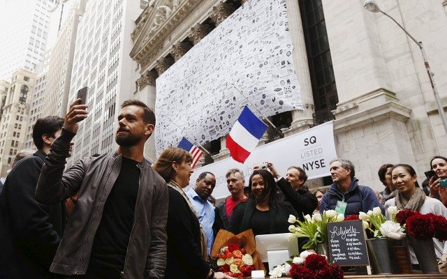 Jack Dorsey en Wall Street, en la salida a bolsa de Square. (Foto: Reuters.)