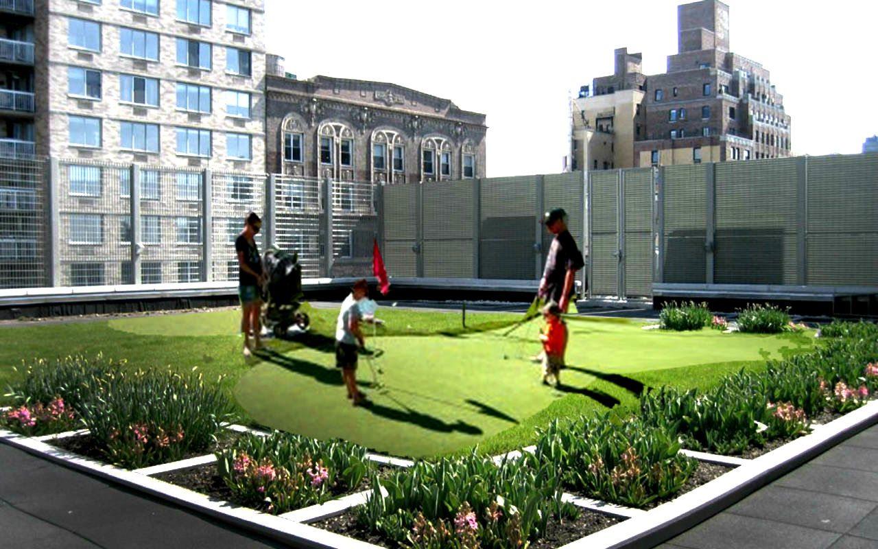 Golf en las alturas: roof putting course