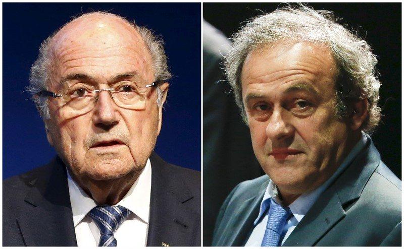 FIFA suspende a Blatter y Platini 8 por años