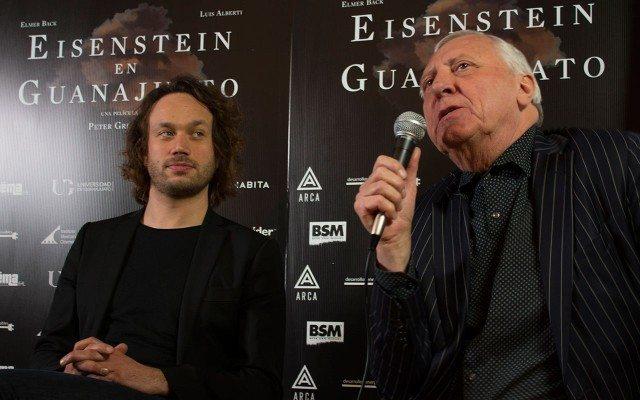 Elmer Bäck y Peter Greenaway. Foto: Andrea Rodea.)