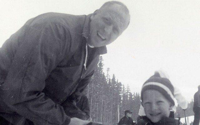 Bill Gates a los seis años, con su padre, Bill Gates Sr. (Foto: Cortesía de la familia Gates).