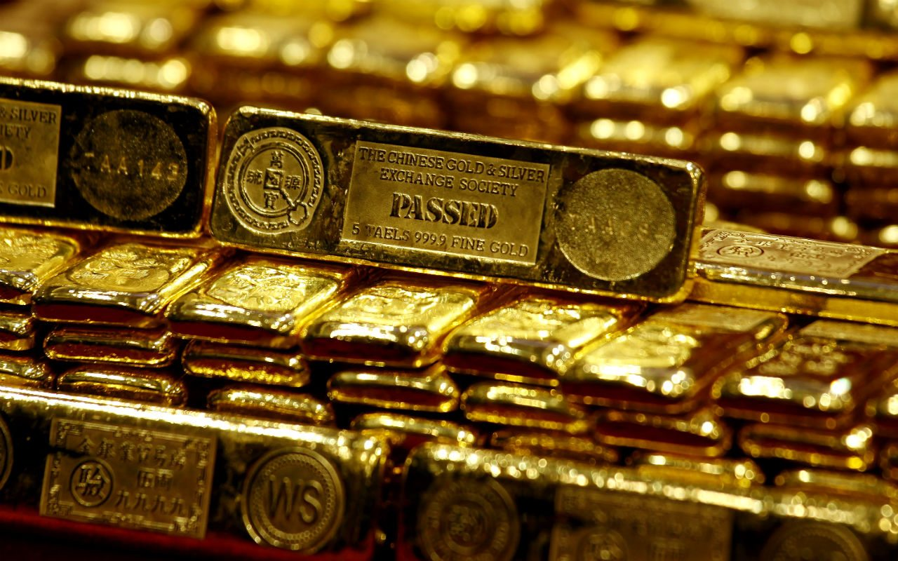 Gráfico histórico de onzas de oro y plata
