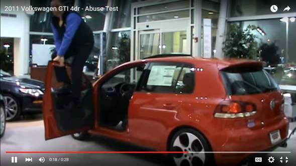 Video: Abusiva demostración de calidad de un VW GTI.