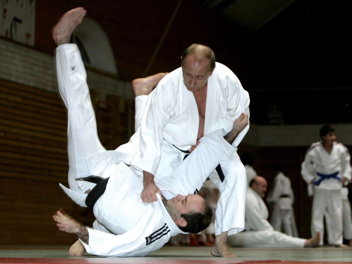 Vladimir Putin judoca. (Foto: mirror.co.uk)