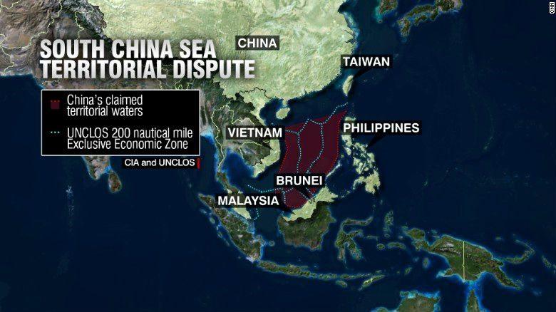 Países en disputa con China. (Foto: cnn.com)