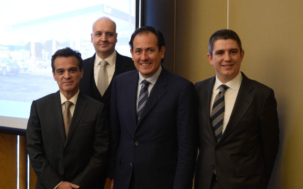 De izquierda a derecha, Luis Felipe Luna, Lars Buttler, Sergio de la Vega y Juan López Becerril. Foto: Staff.