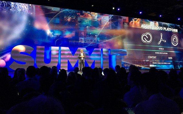 Shantanu Narayen, CEO de Adobe, durante su keynote en el Adobe Summit 2016. (Foto: Staff.)