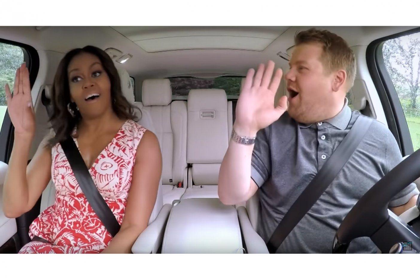 Michelle Obama se sube al 'Carpool Karaoke' y canta himno feminista