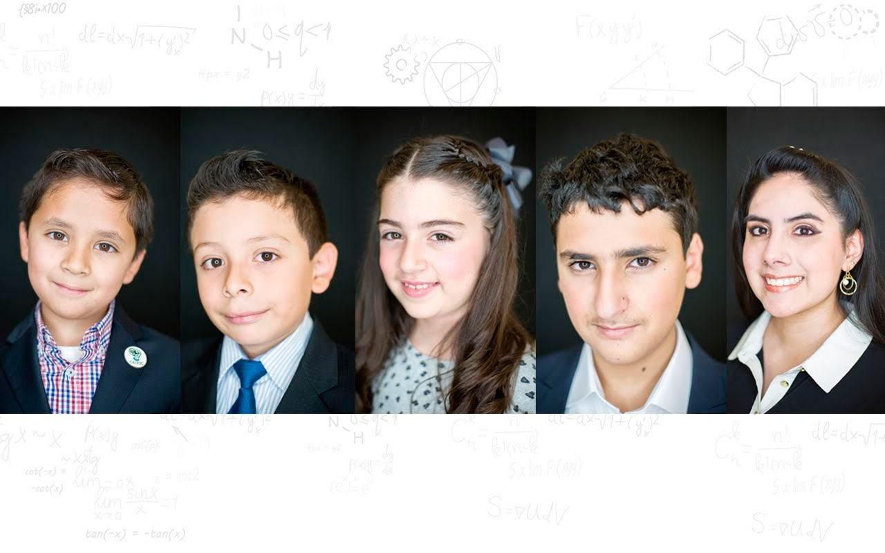 Los niños genio en Forbes (Fotos y composición) Michelle Burgos y Julio Hernández)