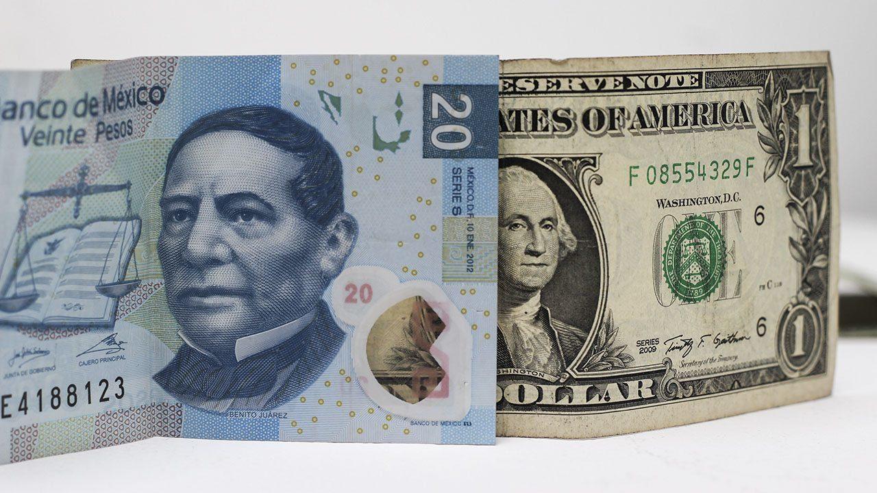 Dólar cierra jornada por debajo de los 20 pesos