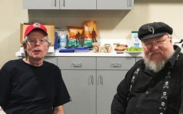 Stephen King y George RR Martin. (Foto: Cortesía de Stephen King.)