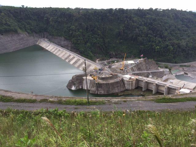 La planta hidroeléctrica Reventazón.