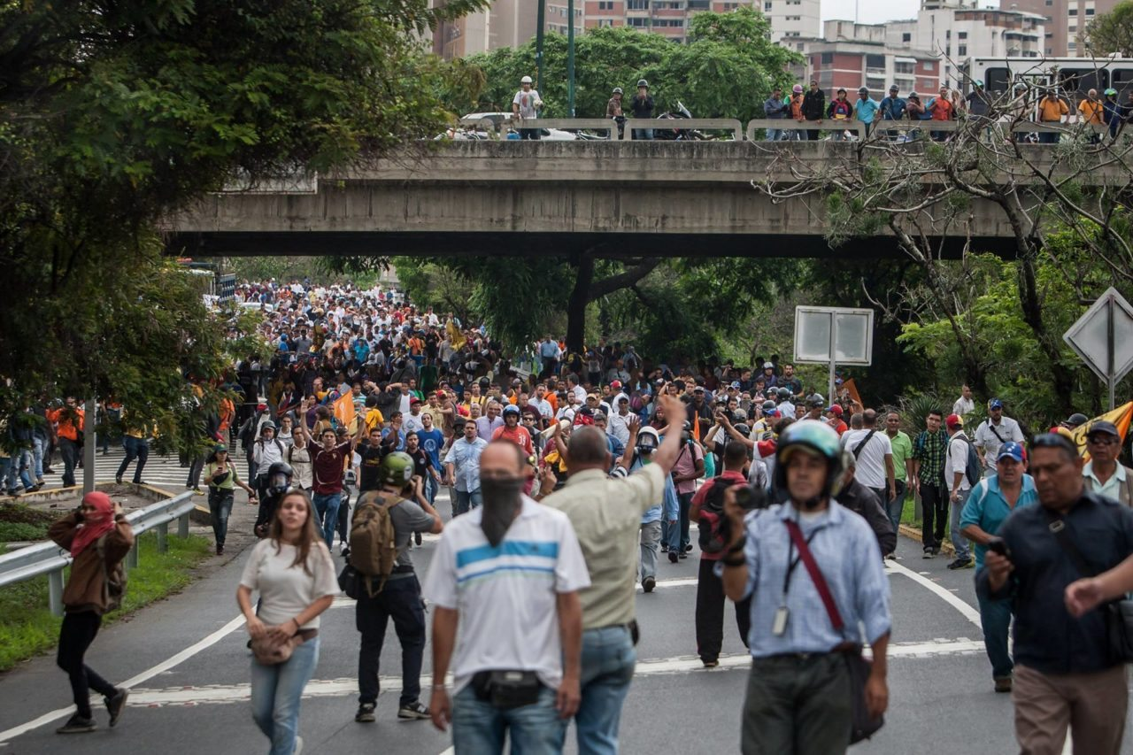 Bloqueos en Venezuela por escasez de gasolina