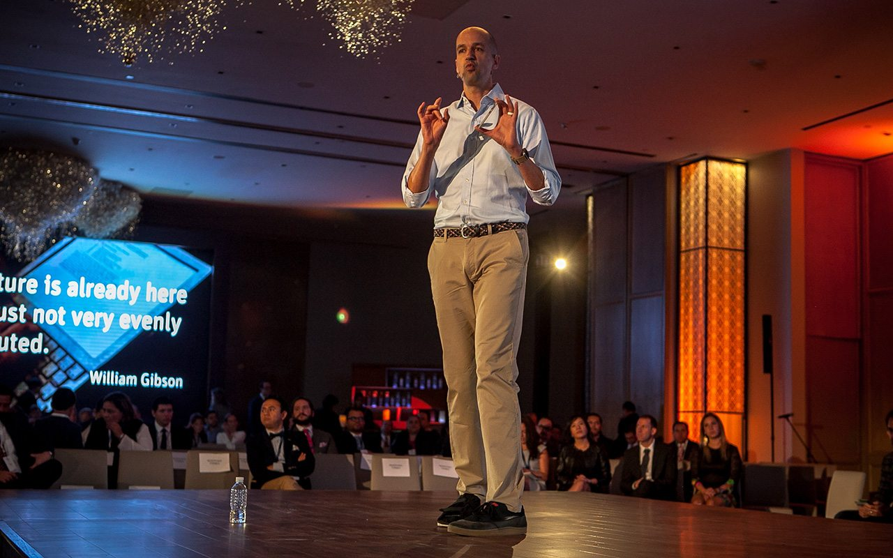 Pascal Finette, VP de Singularity University Labs. (Foto: Oswaldo Ramírez.)