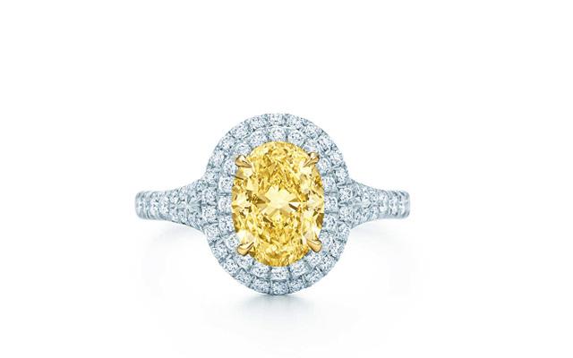 Anillo Soleste con diamante amarillo de Tiffany.