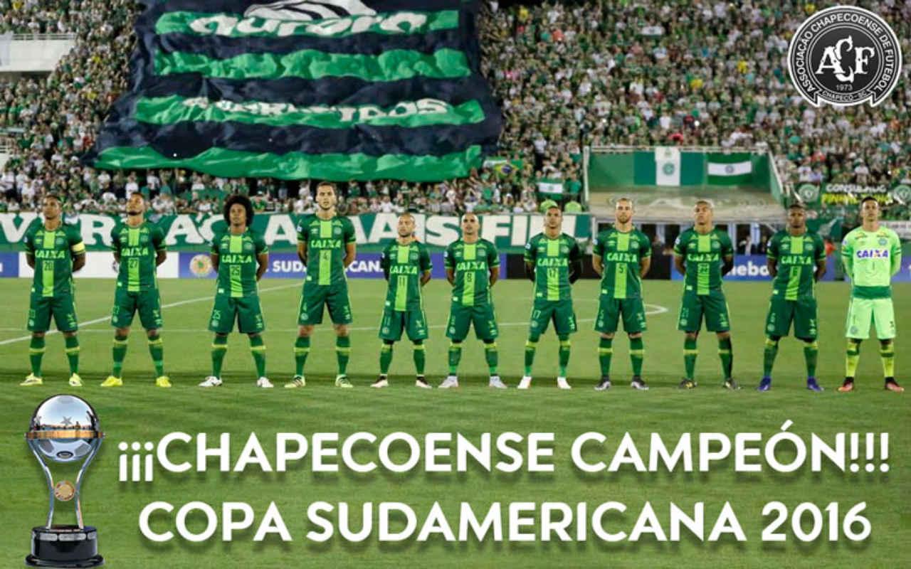 Chapecoense campeón de la Sudamericana, declara la Conmebol