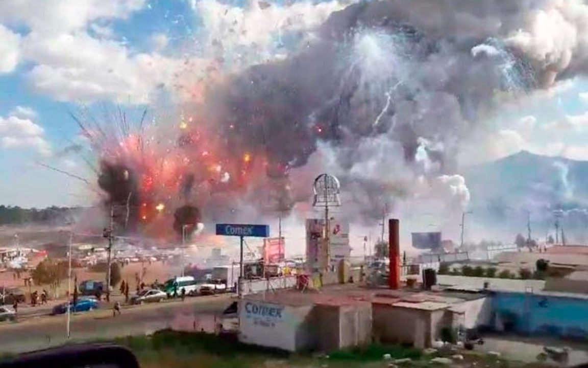 Explosión en mercado de Tultepec deja al menos 29 muertos