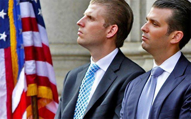 Eric y Donald Jr Trump