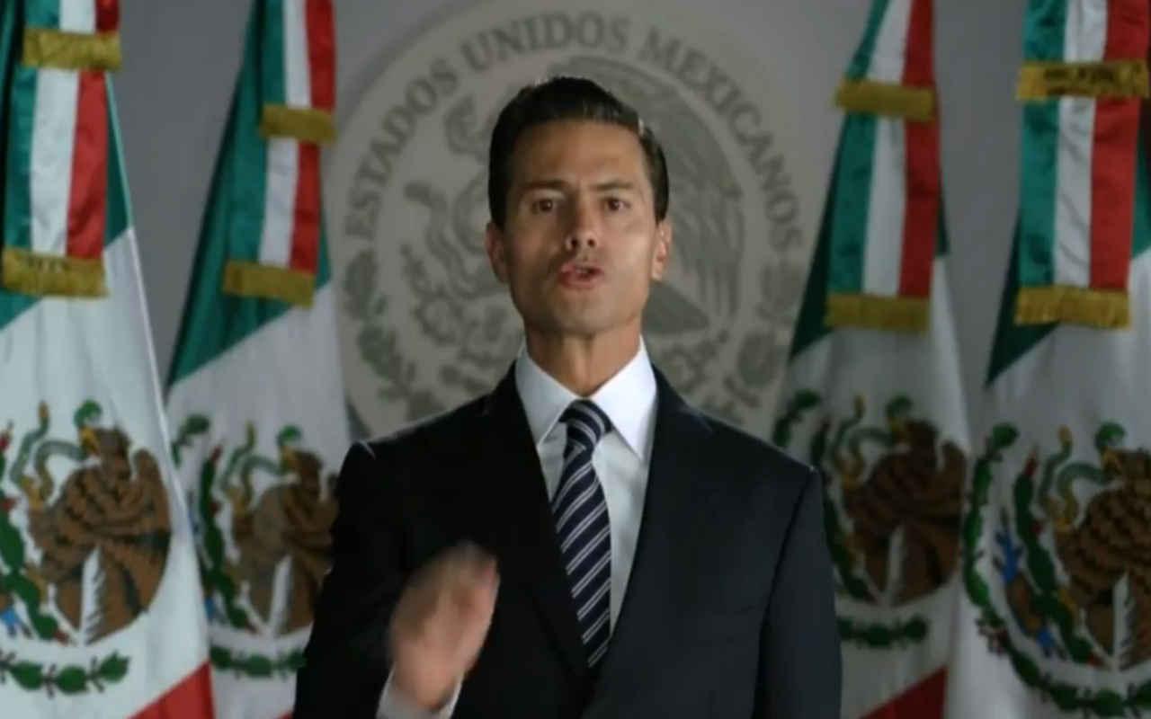 'Mexicanos', la palabra que más pronunció EPN en su mensaje a Trump