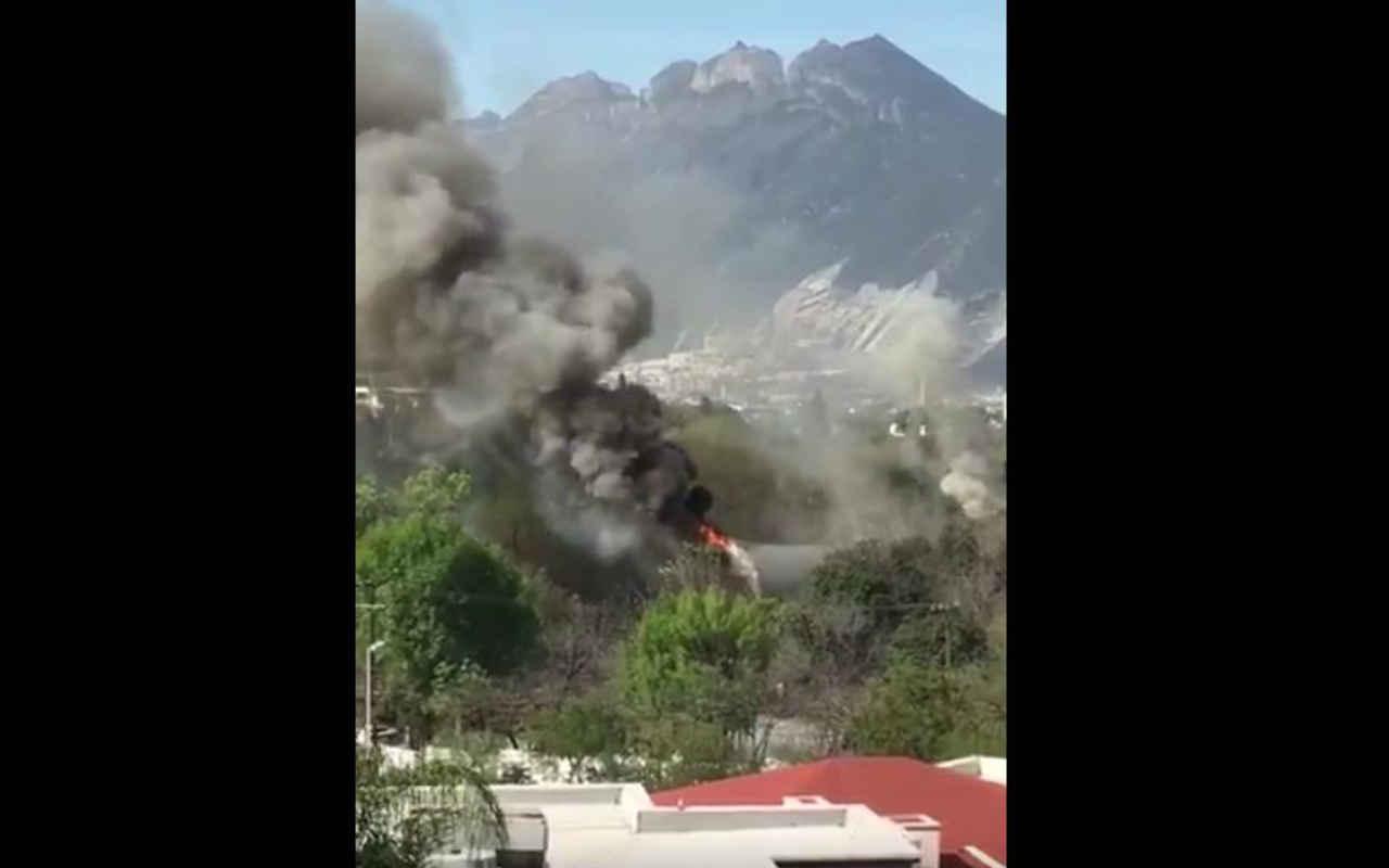 Se incendia Planetario Alfa de Monterrey