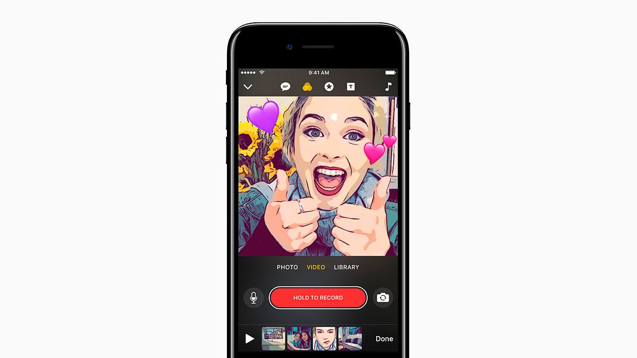 Apple presenta Clips, su aplicación para crear y compartir videos