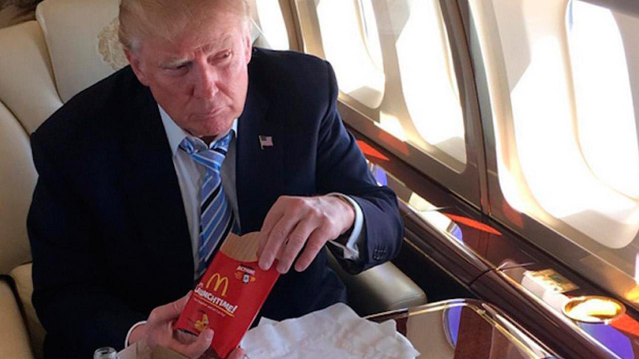 Trump tiene que ocuparse de algo más que China y el muro: su dieta
