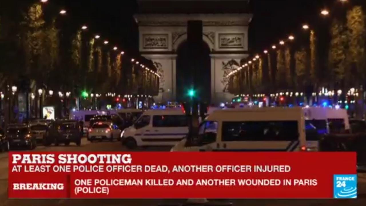 Tiroteo en París deja un policía muerto y 2 heridos