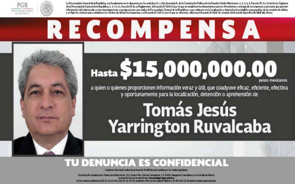 Detenido en Italia, exgobernador Tomás Yarrington
