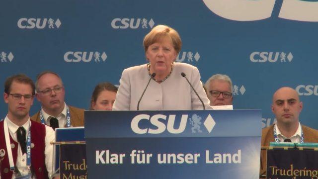 Merkel llama a más independencia de Europa de EEUU de Trump