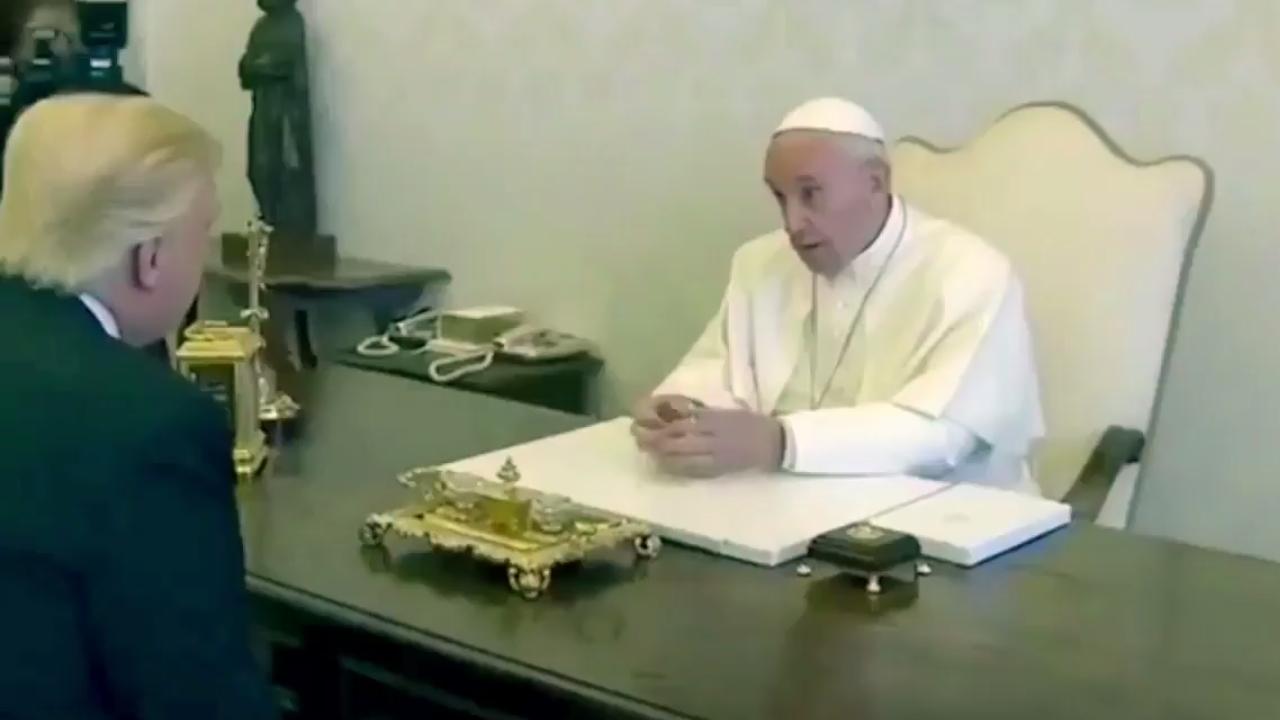 El Papa y Trump tratan de limar asperezas; Francisco le pide paz