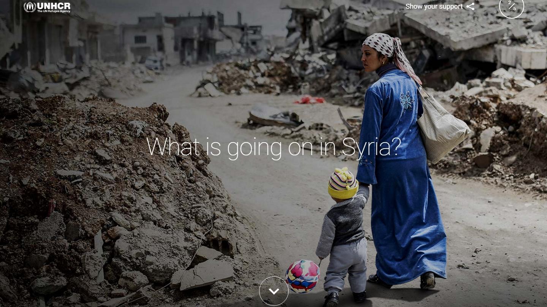 Google y ACNUR lanzan portal para entender crisis en Siria