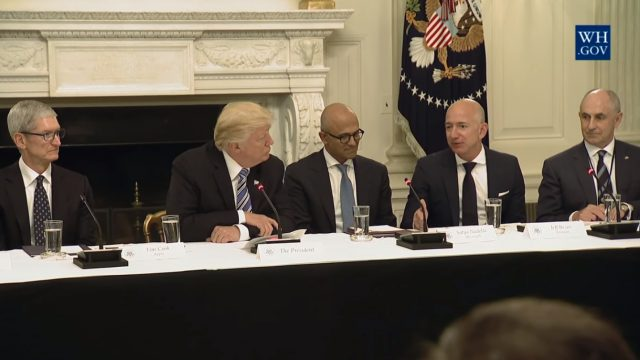 Bezos Trump Amazon