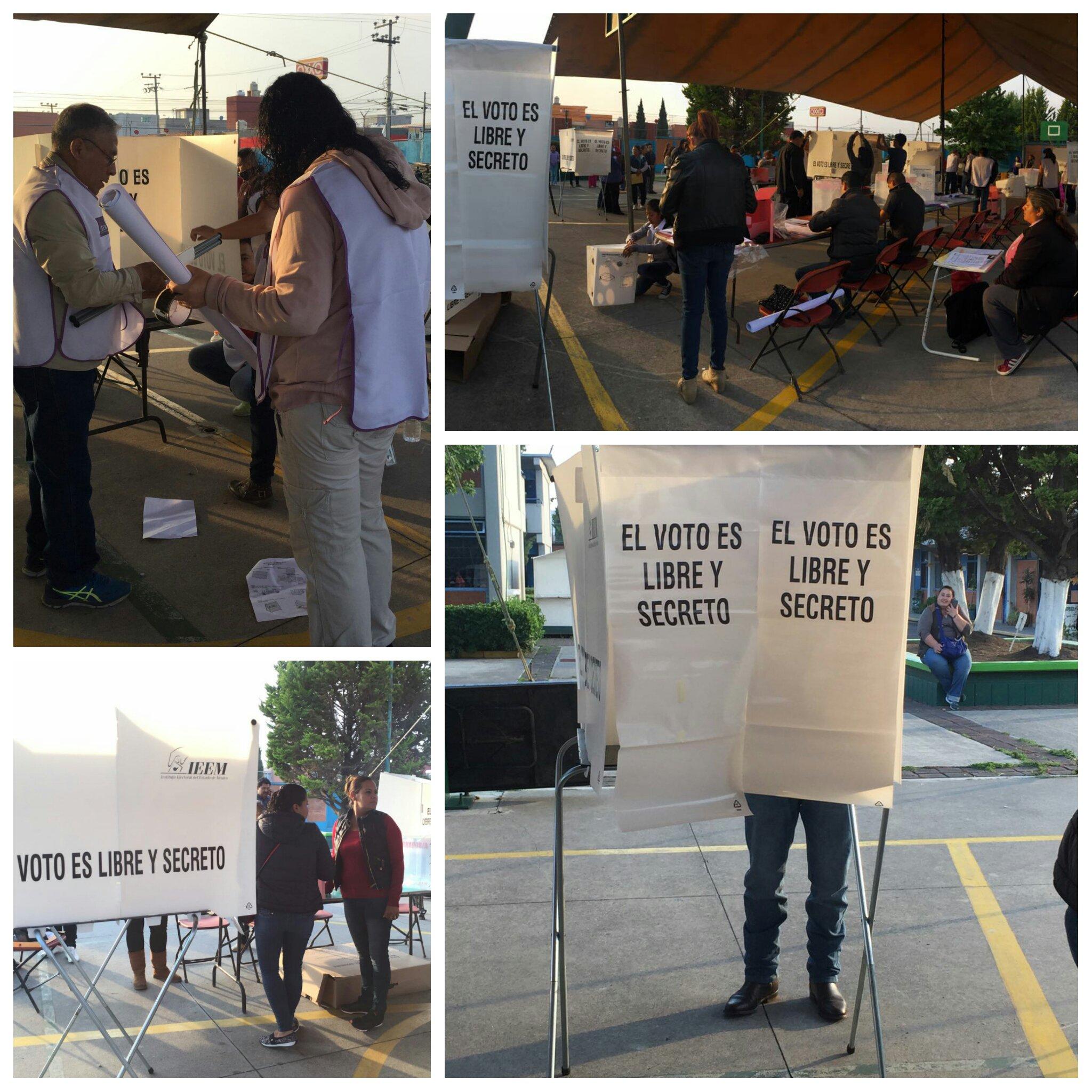Comienza la jornada electoral en el Estado de México