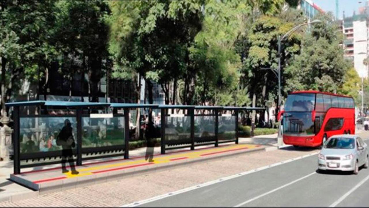 INAH ordena quitar la publicidad del Metrobús de Reforma